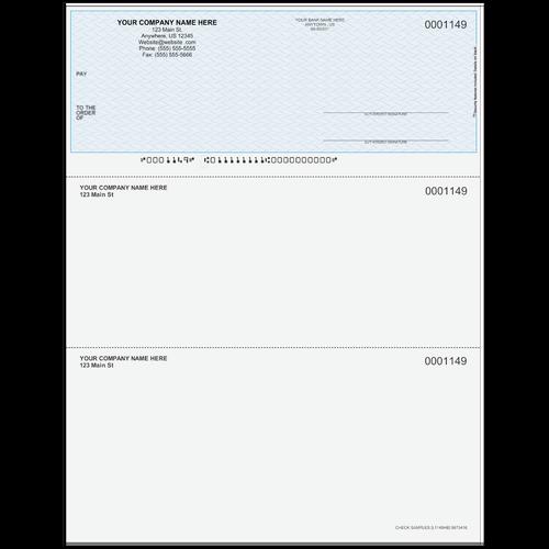 L1149 - Multi-Purpose Top Business Check