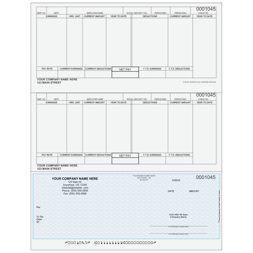 L1045 - Payroll Bottom Business Check