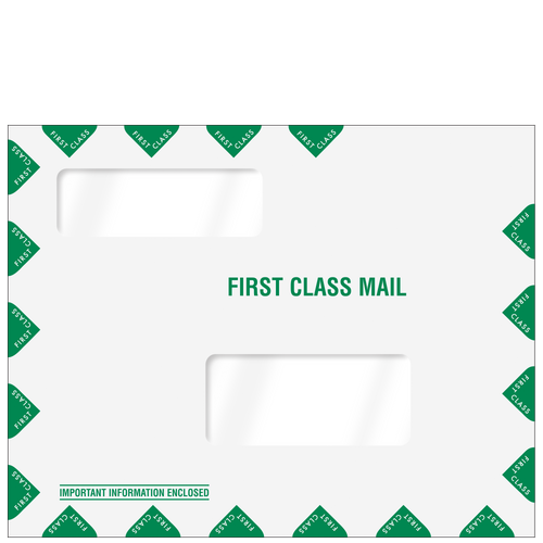 80344PS - Double Window Tax Organizer Mailing Envelope - Peel & Close
