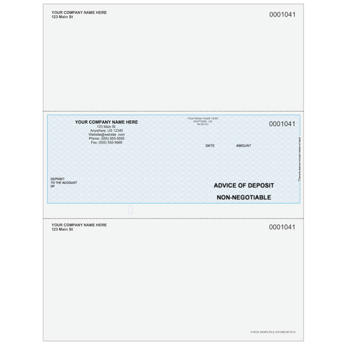 L1041 - Advice of Deposit Middle Check