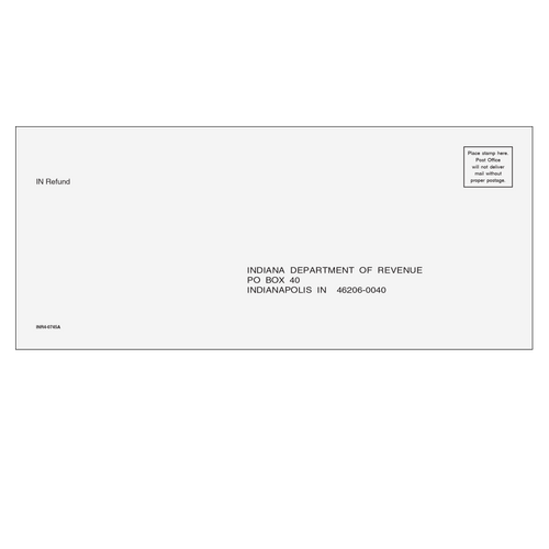 INR410 - IN No Payment Envelope