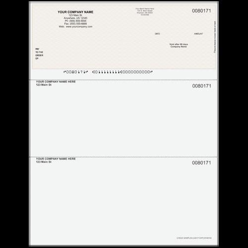 L80171C - Multi-Purpose Top Business Check