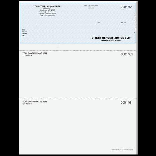 L1161A - Advice of Deposit Top