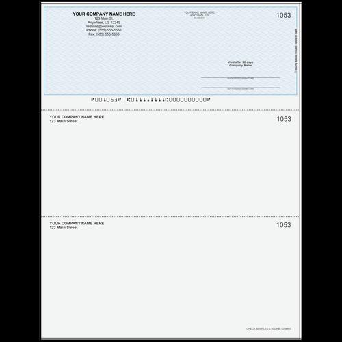 L1053 - Multi-Purpose Top Business Check