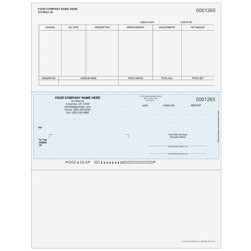 L1265 - Accounts Payable Middle Business Check