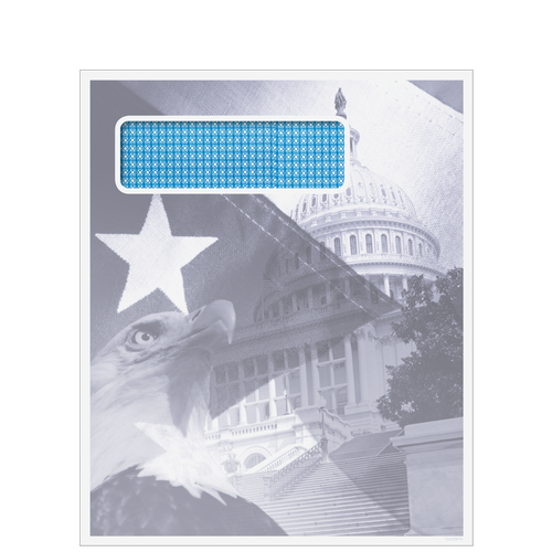 80918 - 9.5 x 11.5 Single Window Patriotic Envelope (Peel & Close)