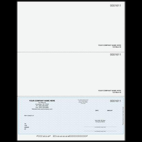L1611 -  Multi-Purpose Bottom Business Check