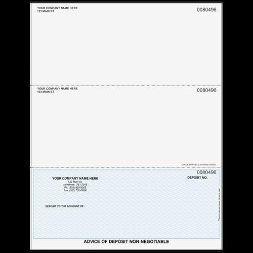 L80496 - Advice of Deposit Bottom Business Check