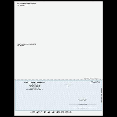 L1174A - Multi-Purpose Bottom Business Check (One Perf)