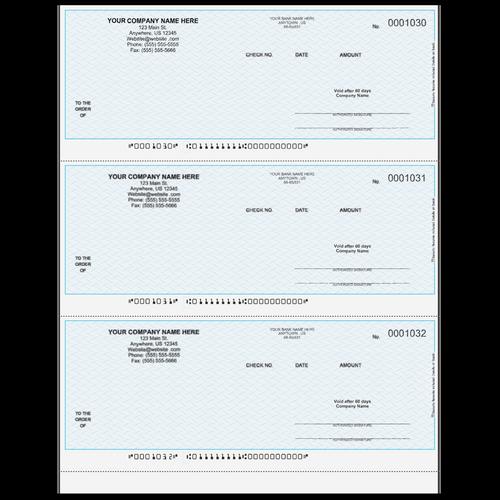 L1030 - Multi-Purpose 3up Business Check
