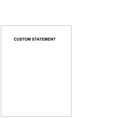 L1011 - Shelby Custom Statements