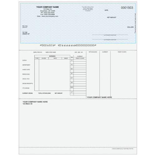 L1503P - Payroll Top Business Check (with Extra Perf)