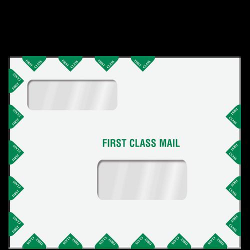 80737 - Double Window Tax Return Mail Envelope