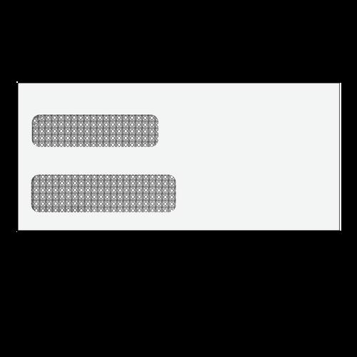 E5122S - 4 1/8 x 9 Double Window Envelope (Self Seal)