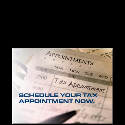 PC56 - Tax Appt Scheduling Reminder Postcard - Day Planner Design