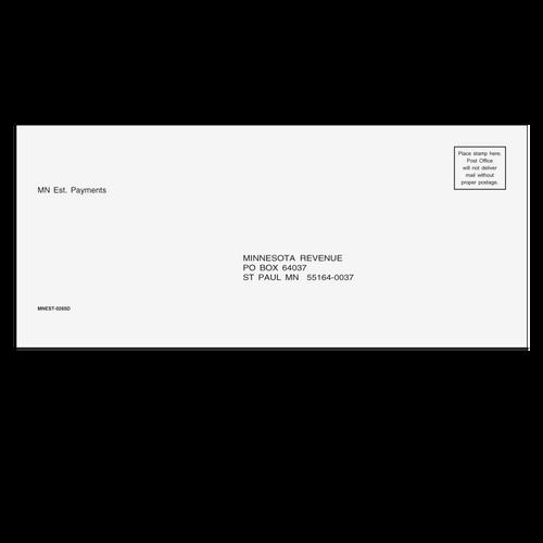 MNEST10 - MN Estimate Envelope 3 7/8 x 8 7/8