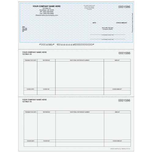 L1586 - Accounts Payable Top Business Check
