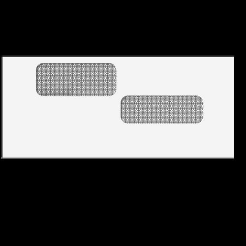 E9960214 - Double Window Envelope - Moisture Seal - 4 1/8 x 9 1/2