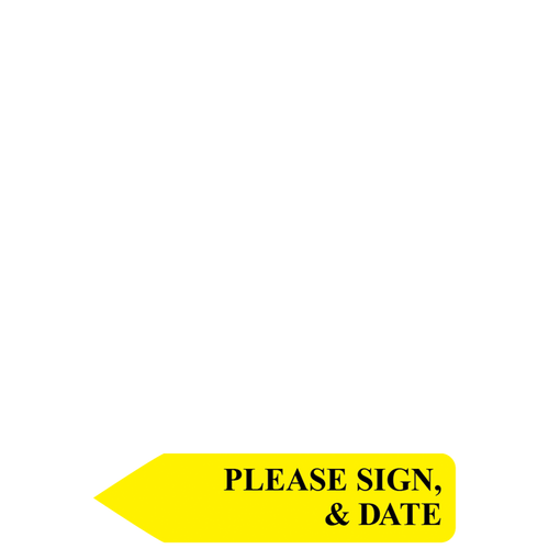 8112414 - RediTag Pls Sign & Date (Yellow)
