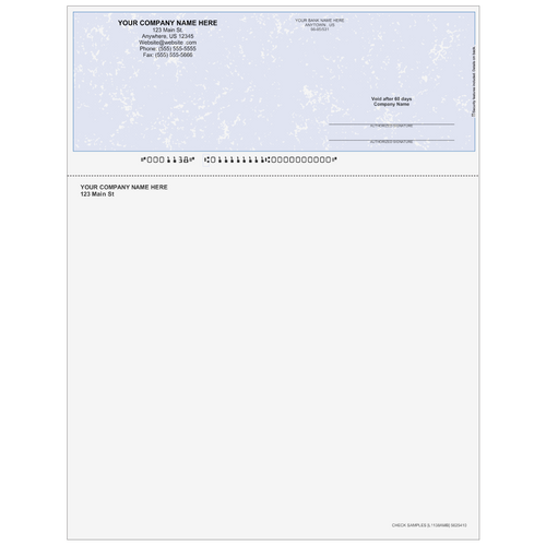 L1138A- Multi-Purpose Top Business Check (One Perf)