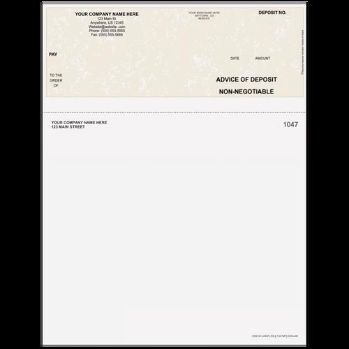 L1047 - Advice of Deposit Top