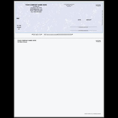 L1025 - Multi-Purpose Top Business Check (One Perf)