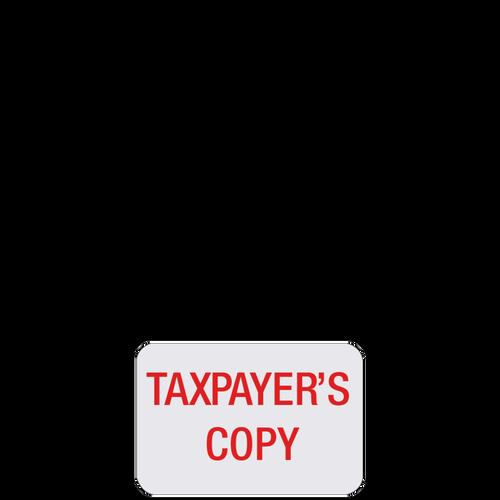 ST05 - 'Tax Payer's Copy' Label