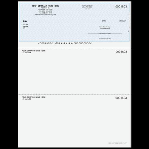 L1603 - Multi-Purpose Top Business Check