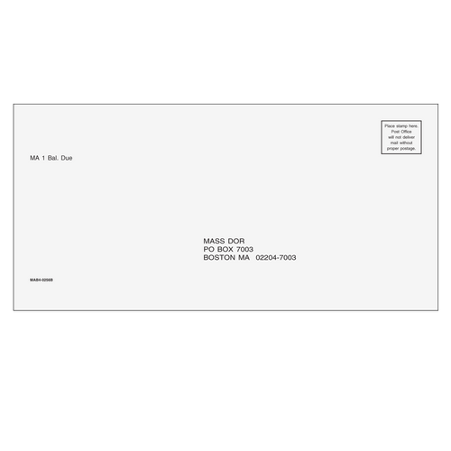MAB410 - MA Balance Due Envelope