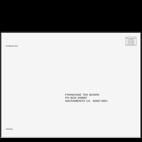 CABNS910 - CA Balance Due Envelope 9 x 12