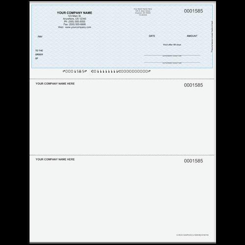 L1585 - Multi-Purpose Top Business Check