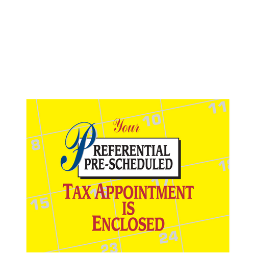 PC35 - Pre-Scheduled Tax Appointment Postcard