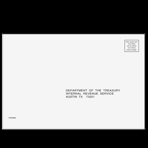 FTX610 - 1040 All Returns Envelope - Austin, TX 6 x 9