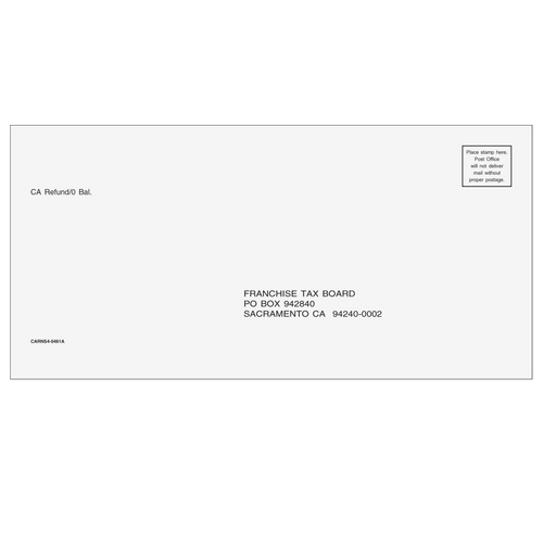 CARNS410 - CA Refund Envelope