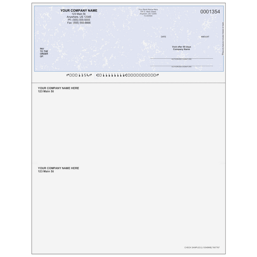L1354B - Multi-Purpose Top Business Check (One Perf)