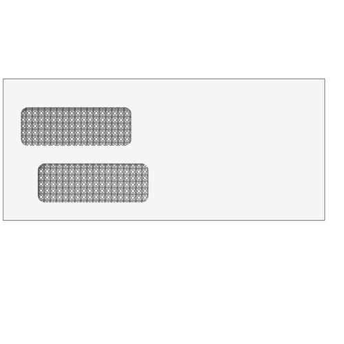 81553 - Double Window Envelope 4 1/8 x 9 1/2 (Moisture Seal)