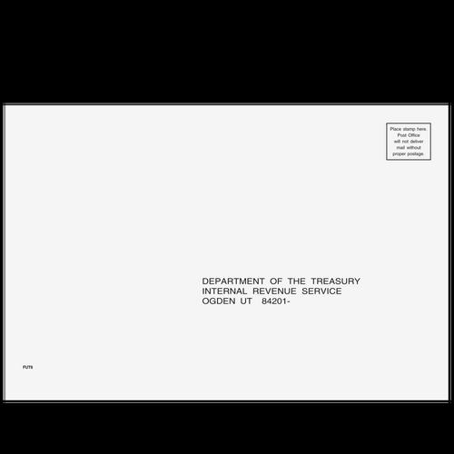 FUT610 - 1040, 1065, 1120, & 1120-S Envelope