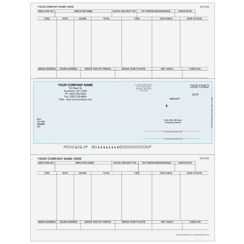 L1062A - Payroll Middle Business Check