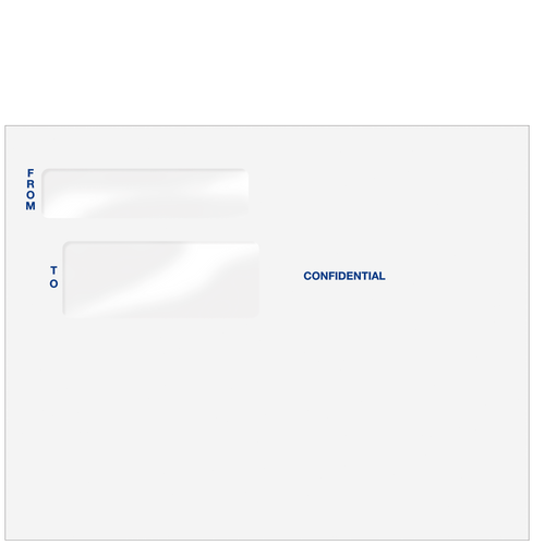 80596 - Double Window Confidential Envelope (Peel & Close)