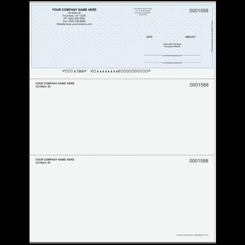 L1588 - Multi-Purpose Top Business Check