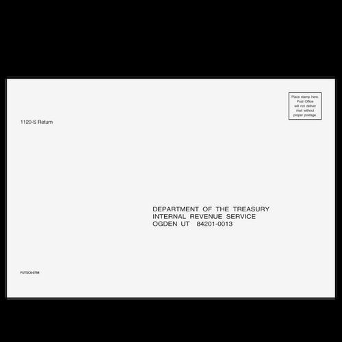 FUTSC610 - 1120-S S-Corporation Envelope - Ogden, UT 6 x 9