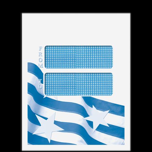 CCLNT9D10 - Double Window Mailing Envelope - Patriotic