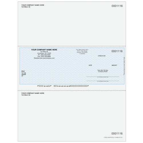 L1116 - Multi-Purpose Middle Business Check