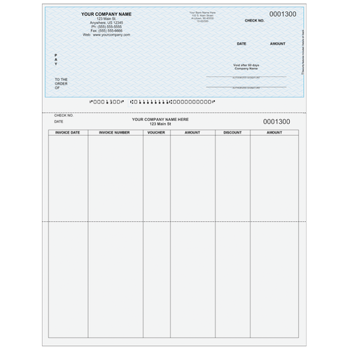 L1300A - Accounts Payable Top Check