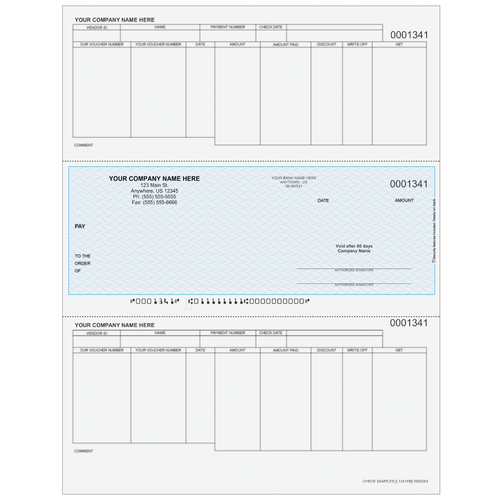 L1341 - Accounts Payable Middle Business Check