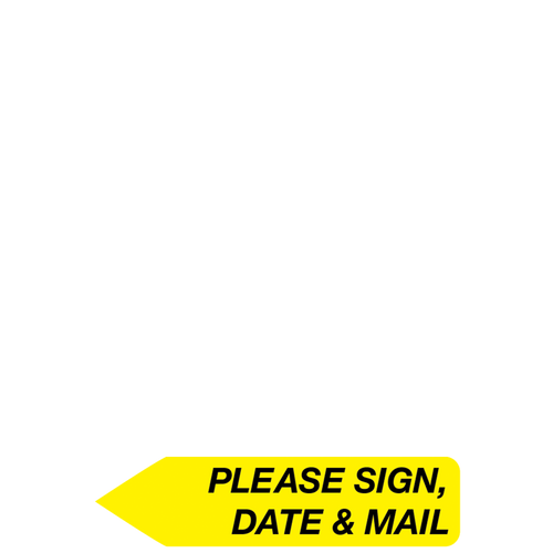 8104114 - RediTag Please Sign, Date, Mail (Yellow)