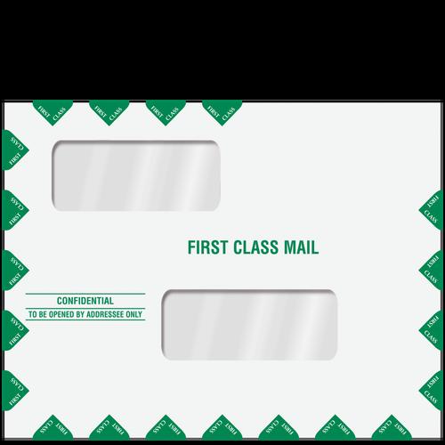 ENV201 - Double Window First Class Envelope (Moisture Seal)