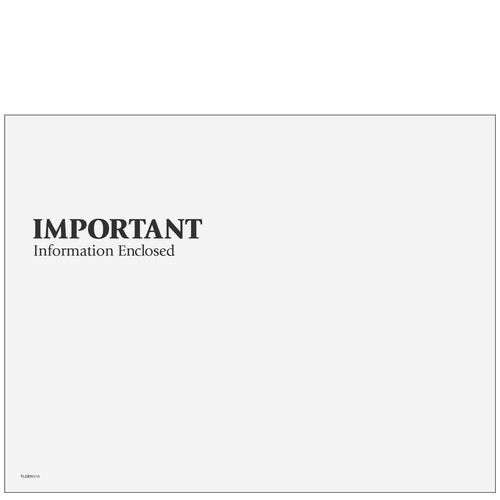 FLDENV10 - Important Information Envelope