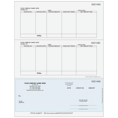 L1480 - Accounts Payable Bottom Business Check