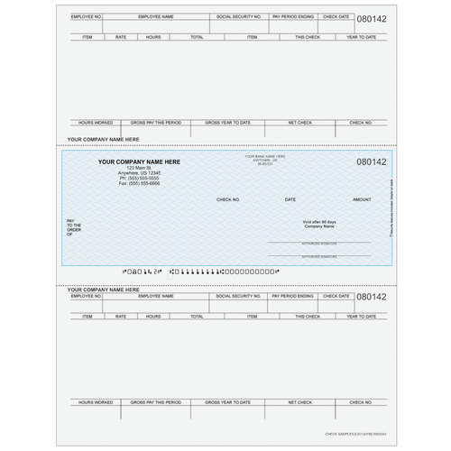 L80142 - Payroll Middle Business Check